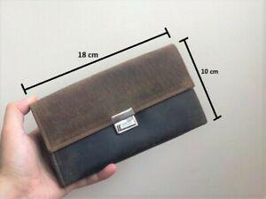 Womens Real Leather Long Wallet Purse Clutch Bag Phone Holder Handbag tan Gift