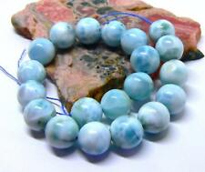 20 AAA RARE TOP GRADE CARIBBEAN BLUE LARIMAR ROUND SPHERE BALL BEADS 10mm 156cts