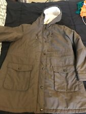 Women's Apt. 9 Brown Hooded Winter Coat- Size XL- Pre-owned Lined Hood Pockets