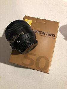 Nikon AF-S NIKKOR 50mm f/1.8g Lens (sticky aperture)