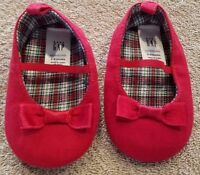 ADORABLE! BABYGAP 3-6 MONTH RED BOW SHOES ADORABLE REBORN