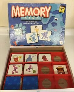Blues Clues Memory Game Incomplete Pieces Replacement With Box Tiles Cards Tray