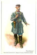 Confederate Artilleryman Uniform Civil War Postcard *234