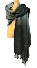 TS TAKING SHAPE Bloom Jacquard Poncho warm soft knit tassel trim chic winter