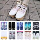 Fashion 3D Print Cute Animal Colorful Low Cut Ankle Socks Harajuku Style Unisex