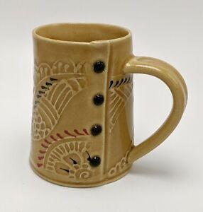 Charan Sachar Textile Sweater Fabric Inspired Studio Pottery Mug