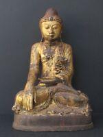 Antique Bouddha Mandalay en Bronze