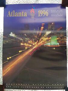 OFFICIAL OLYMPIC GAMES 1996 ATLANTA POSTER