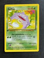 Pokemon Koffing 1st Edition Base Set (I T A L I A N) #51/102 NM-M (T)