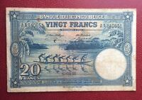 Congo Belge - Belgique - Joli Billet de 20 Francs du  10-04-1946