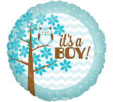 18-inch Its A Boy Baby Owl In A Tree Balloon
