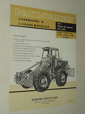 Prospectus Chargeur Payloader DH30 INTERNATIONAL IH Mac Cormick TP prospekt