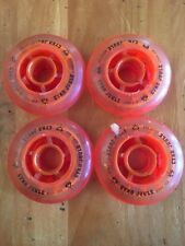 Cyko Joule 80mm RollerBlade Wheels In-line Skates Scooters Silicone Orange NEW!