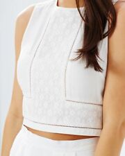 Lace Casual Sleeveless Crop Tops for Women