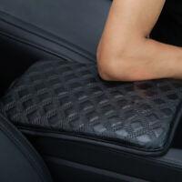 Car Auto PU Leather Armrest Pad Trim Cover Center Console Box Accessories Black
