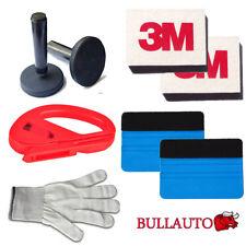 Car Wrap Vinyl Tools Kit 2 3M Felt Squeegee Razor Cutter Gloves 2 Magnet holders
