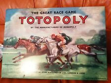 Vintage TOTOPOLY Great Race Game by Waddingtons 1949 Edition. Complete