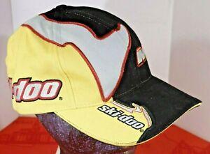 Ski-Doo Skidoo Hat Cap Snowmobile Sno Gear one size MXZ Black Yellow Gray EXC +!