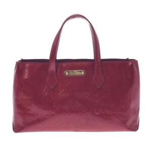 LOUIS VUITTON Vernis Wilshire PM Pomdamul M93642 Hand Bag 805000937234000