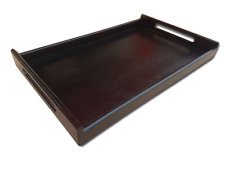 Wooden Tea Meal Serving Tray Waiter Tableware Bar Dining Kitchen Caddy Tk64Black