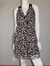 Womens Asos Animal Print Cocktail Wrap Mini Dress Size 8 - Sold out!