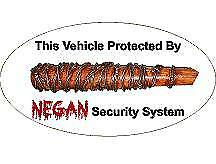 Protected by Negan Vinyl sticker Decal Laptop macbook Car Truck SUV Window