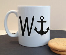 W - ANCHOR (WANKER) NOVELTY PERSONALISED MUG CUP GIFT BIRTHDAY FATHERS DAY