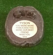 Dog Large Pet Memorial/headstone/stone/grave marker/memorial with plaque ld2