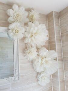 set of 7 pom pom flower choose colour wedding baby shower hen party birthday