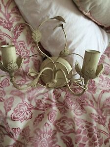 Shabby chic wall sconce electric light fitting L@@k Lovely