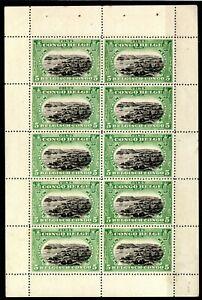 Belgium Colonies BELGIAN CONGO Scott.60a 5c BOOKLET PANE {1915) Mint MNH SS315