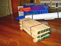 O Scale,  O Gauge  Flat Car Load Real Ashwood Lumber Handmade