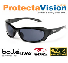 Eyres RAZOR Crystal Charcoal Smoke Safety Glasses Sunglasses