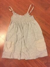 Abercrombie Kids Girl's Adjustable Strap Sleeveless Baby Doll Top Gray Size M