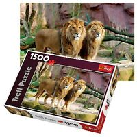 Trefl 1500 Piece Adult Large Two Lions Friends Zoo Floor Jigsaw Puzzle NEW