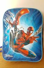 BOY'S BACKPACK BLUE SPIDERMAN Web Design Ideal School Holiday Days Out Gift Idea