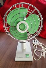 VINTAGE/RETRO PIFCO SPINAIR FAN - 1960/1970's - GREEN/CREAM