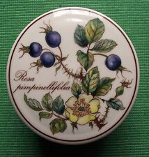 Villeroy & Boch Botanica Porcelain Lidded Trinket Pot with Yellow Rose & Hips