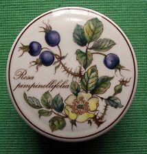 Villeroy & Boch Botanica Porcelain Lidded Trinket Pot with Yellow Rose & Hips