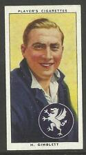 PLAYER'S 1938 CRICKETERS H. Gimblett Card No 9 of 50 CRICKET CIGARETTE CARDS