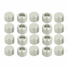 3/8BSP Thread 11mm Height Hex Socket Head Pipe Connector Fitting 20pcs