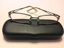 Ashley Rx Eyeglass Frames Copper 53-16-135 Rectangular Full Rim Womens Glasses