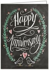 LILY AND VAL BLACKBOARD GREETING CARD: HAPPY ANNIVERSARY- NEW in CELLO