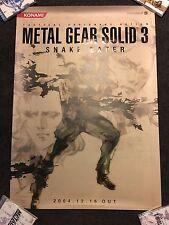 RARE Metal Gear Solid 3 Snake Eater 'Snake EVA Boss' Promo Poster B2 Shinkawa