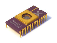 2716 EPROM (MHB2716C) TESLA Vintage Ceramic Gold - Military grade quality