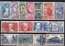 France: 15 Timbres oblitérés cachets ronds (1924/38) Cote 140€