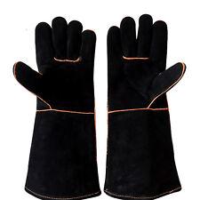 Premium Welders Welding Gloves Gauntlets - Reinforced Lined Gloves Stoves Fire