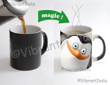Penguin Cartoon movie Color Changing Heat Sensitive Tea Cup Magic Coffee Mug