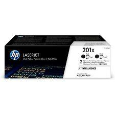 HP 201X   CF400XD   2 Toner Cartridges   Black   High Yield   ~2,800 pages