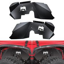 Front Inner Fender Liners for for Jeep Wrangler 2007-2018 JK JKU 4WD Off-Road